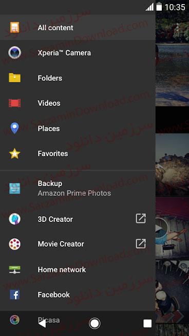نرمافزار آلبوم عکس اکسپریا (برای اندروید) - XPERIA Album 9.6.A.0.13 Android