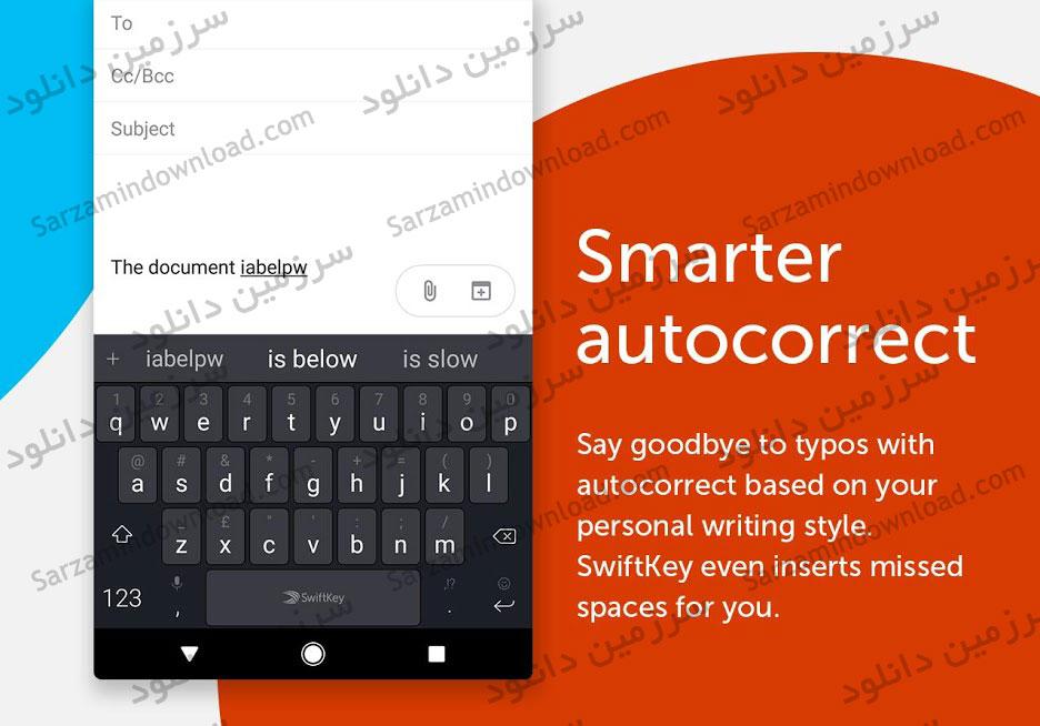 کیبورد حرفه ای (برای اندروید) - SwiftKey 7.3.5.18 Android