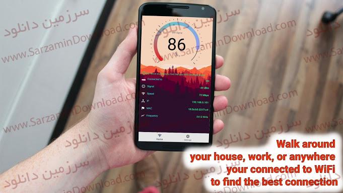 نرم افزار اندازهگیری قدرت سیگنال وایفای (برای اندروید) - WiFi Signal Strength Meter Pro 1.5 Android