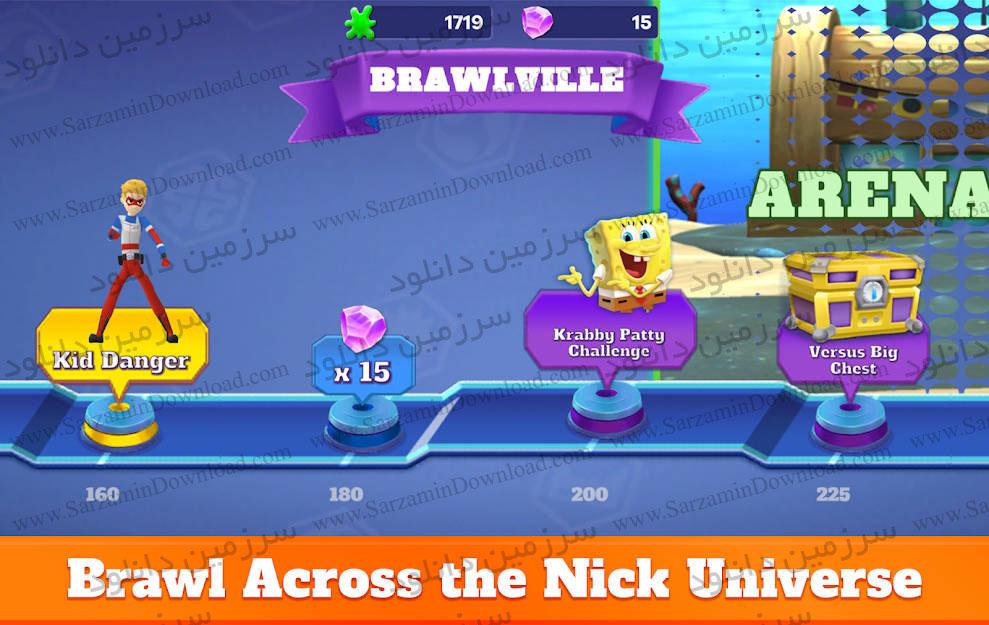 بازی جنگ شخصیتهای کارتونی (برای اندروید) - Super Brawl Universe 2.20 Android
