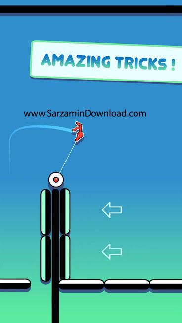 بازی استیکمن بند باز (برای اندروید) - Stickman Hook 4.0.2 Android