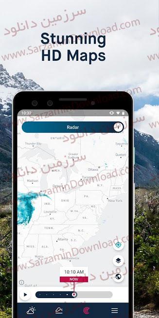 نرم افزار هواشناسی (برای اندروید) - WeatherPro 5.6.1 Android