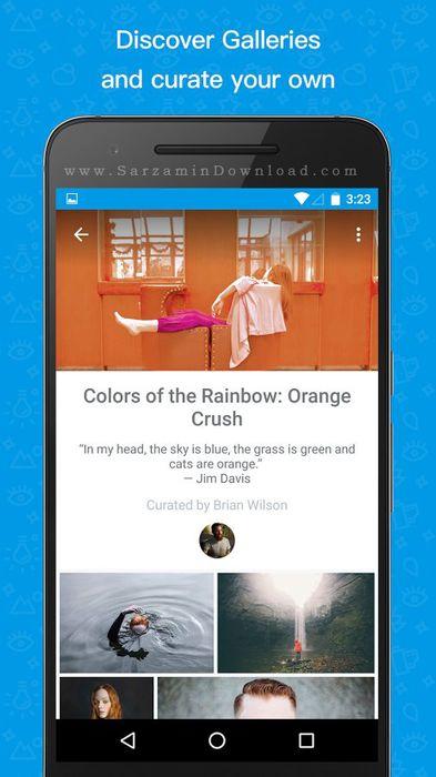 نرم افزار شبکه اجتماعی عکاسی (برای اندروید) - 500px Discover great photos 4.7 Android