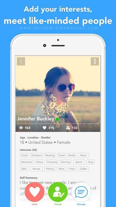 نرم افزار چت تصویری (برای اندروید) - B Messenger Video Chat 7.1 Android