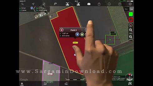 نرم افزار اندازه گیری فاصله مناطق (برای اندروید) - Agro Measure Map Pro 3.5 Android