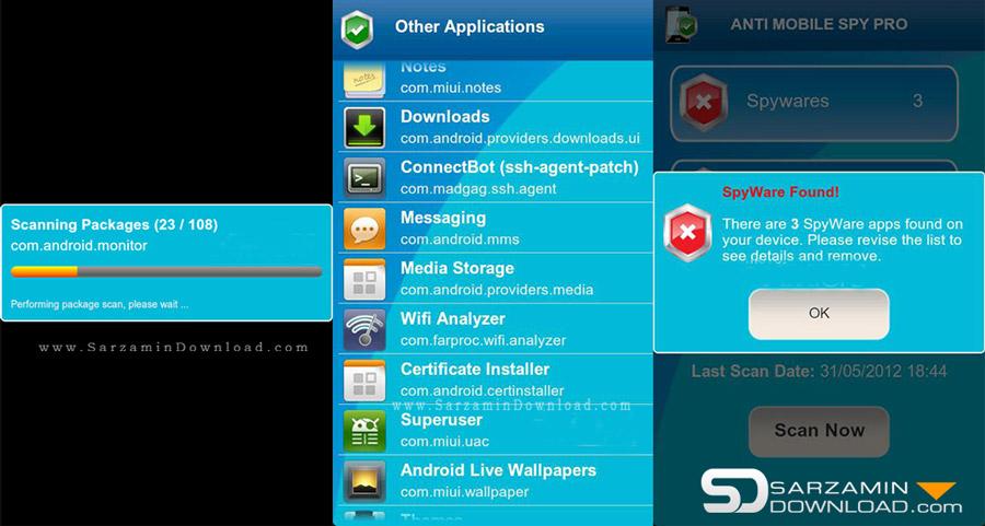دانلود نرم افزار ضد جاسوسی (برای اندروید) - Anti Spy Mobile PRO ...نرم افزار ضد جاسوسی (برای اندروید) - Anti Spy Mobile PRO 1.9.10.28