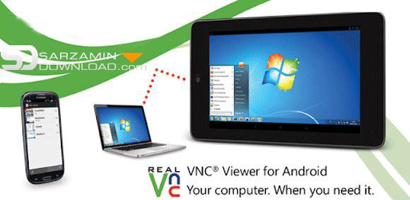 نرم افزار کنترل کامپیوتر با اندروید (برای اندروید) -  VNC Viewer 3.2.0.02 Android