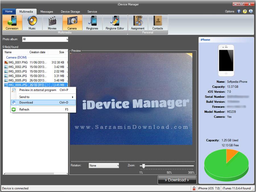 نرم افزار مدیریت آیفون (برای ویندوز) - iDevice Manager 6.7.0.0 Windows