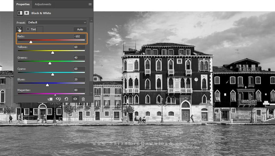 آموزش سیاه و سفید کردن عکس در فتوشاپ