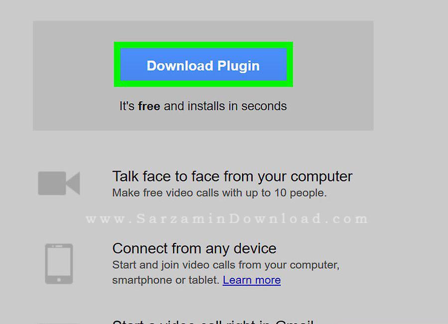 آموزش برقراری تماس تصویری با استفاده از Gmail