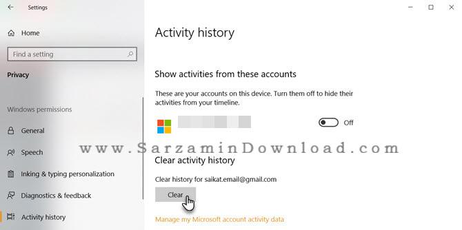 آموزش حذف History یا بازدیدهای اخیر در سیستم عامل ویندوز 10