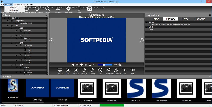 نرم افزار مشاهده و مدیریت تصاویر (برای ویندوز) - Regards Viewer 2.11.0 Windows