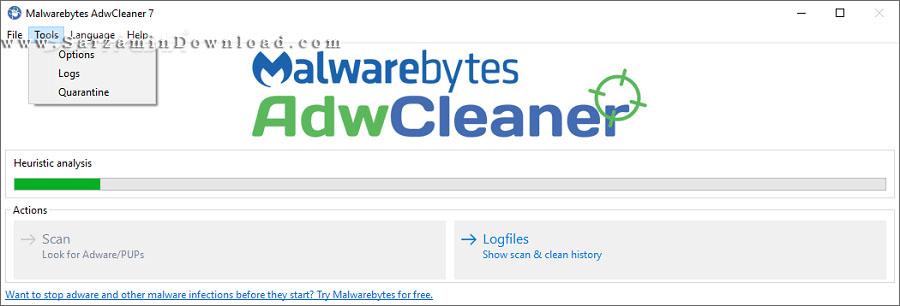 نرم افزار ضد تبلیغات اینترنتی (برای ویندوز) - AdwCleaner 7.0.2.1 Windows