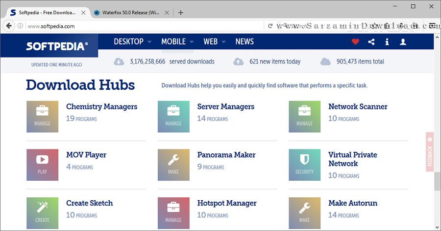 مرورگر سریع واترفاکس (برای ویندوز) - Waterfox 55.2.2 Windows