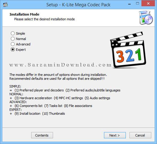 نرم افزار مدیا پلیر کلاسیک به همراه مجموعه پلاگین ها (برای ویندوز) - K-Lite Mega Codec Pack 13.7.0 Windows