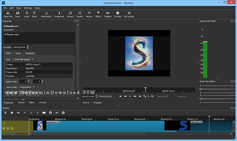 نرم افزار ویرایش فیلم (برای ویندوز) - Shotcut 17.12.03 Windows