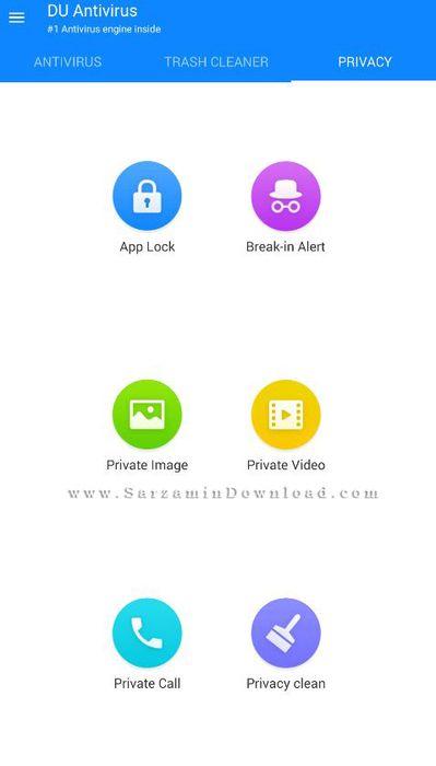آموزش نرم افزار DU Antivirus Security اندروید