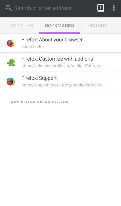 آموزش نرم افزار Firefox اندروید