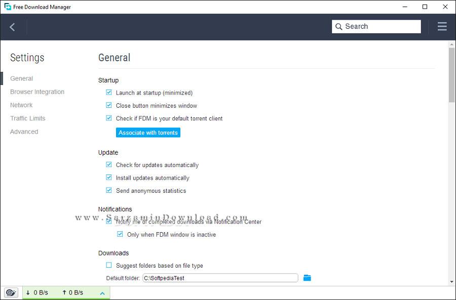 نرم افزار مدیریت دانلود (برای ویندوز) - Free Download Manager 6.10.0.3016 Windows