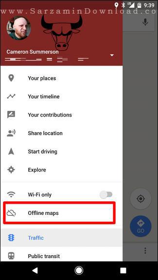 آموزش دانلود نقشه های مناطق در گوگل مپس جهت استفاده به صورت آفلاین