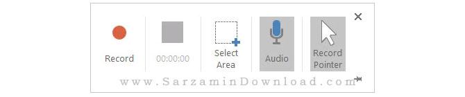 آموزش ضبط ویدیو از صفحه نمایش با استفاده از پاورپوینت