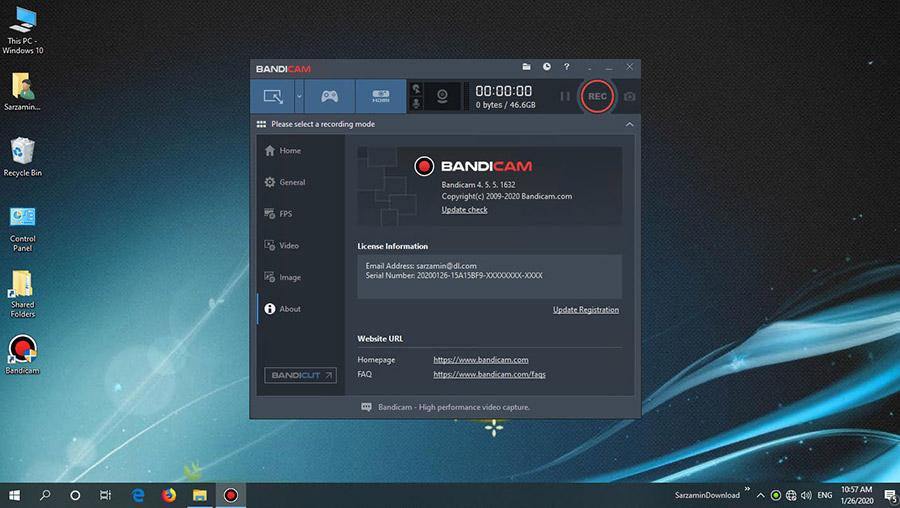 نرم افزار فیلم برداری از محیط بازی ها (برای ویندوز) - Bandicam 5.0.1.1799 Windows