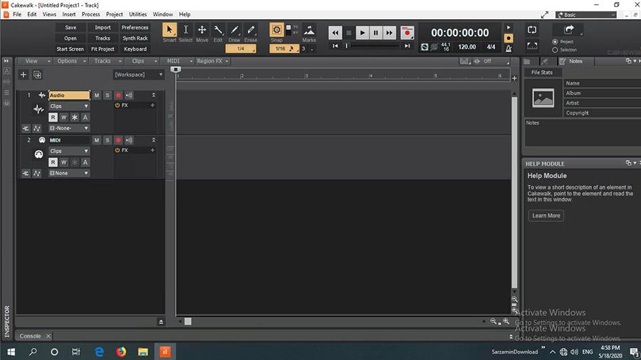 نرم افزار آهنگ سازی سونار (برای ویندوز) - BandLab Cakewalk 27.01.0.098 Windows