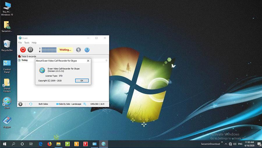 نرم افزار ضبط تماس های اسکایپ (برای ویندوز) - Evaer Video Recorder For Skype 2.1.1.25 Windows