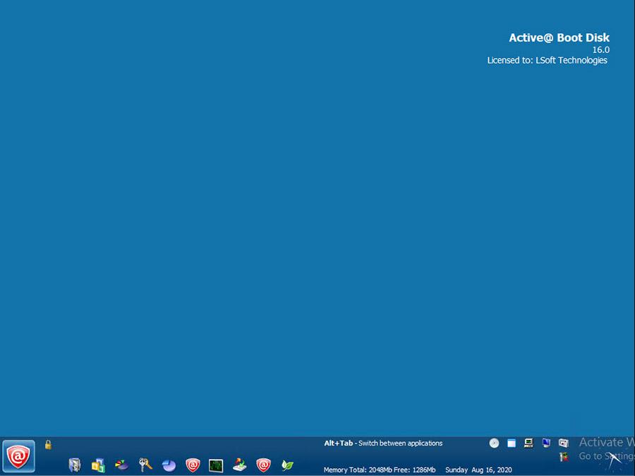 دیسک بوت تعمیر و بازیابی (برای ویندوز) - Active Boot Disk 16.0 Windows