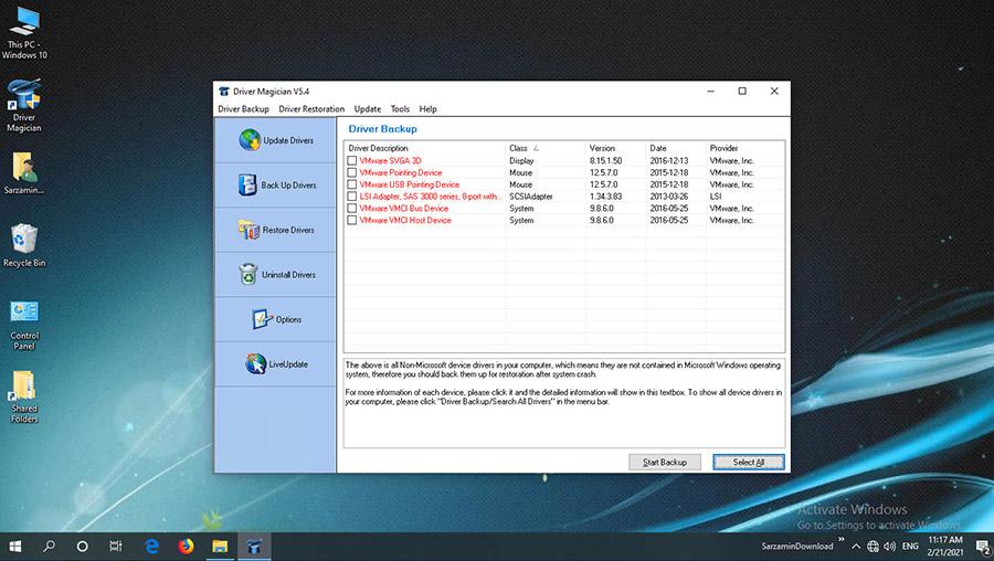 نرم افزار تهیه بکاپ از درایورهای نصب شده (برای ویندوز) - Driver Magician 5.4 Windows