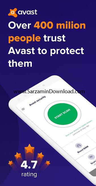 نرم افزار آنتی ویروس اوست (برای اندروید) - Avast Mobile Security and Antivirus 6.35.2 Android