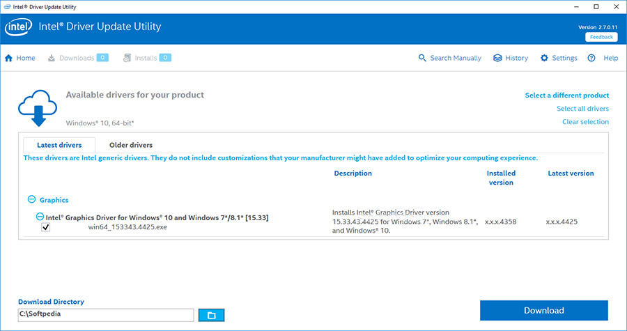 نرم افزار به روز رسانی درایورهای اینتل (برای ویندوز) - Intel Driver Support Assistant 21.1.5.2 Windows