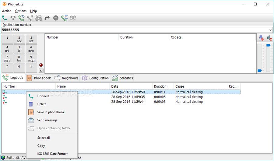 نرم افزار مکالمه صوتی با کامپیوتر (برای ویندوز) - PhonerLite 2.88 Windows