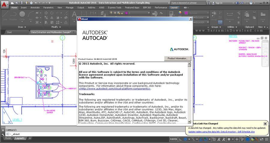 نرم افزار حرفه ای نقشه کشی اتوکد - Autodesk AutoCAD 2016