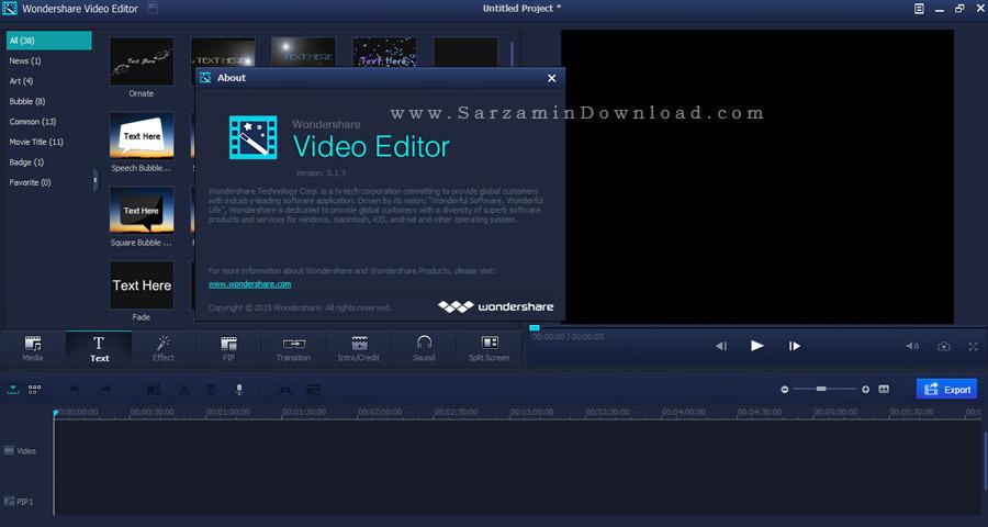 crack wondershare video editor 5.1.3