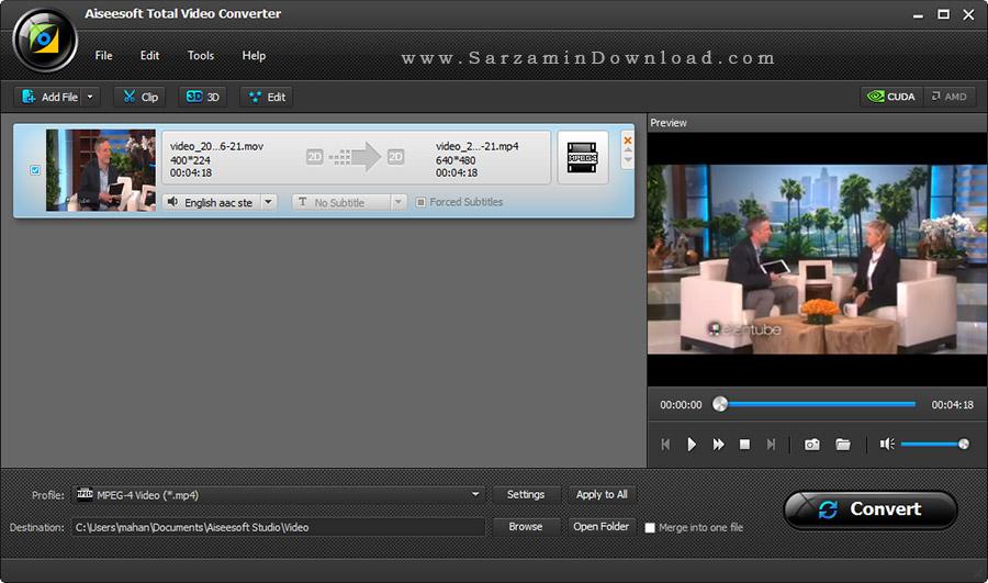 aiseesoft total video converter platinum دانلود نرم افزار
