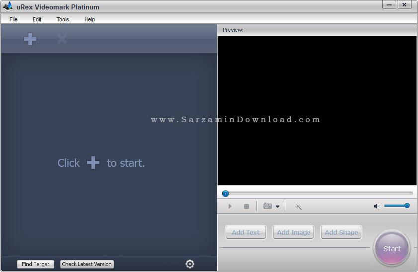 نرم افزار قرار دادن کپی رایت (واترمارک) بر روی فیلم - uRex Videomark Platinum 4