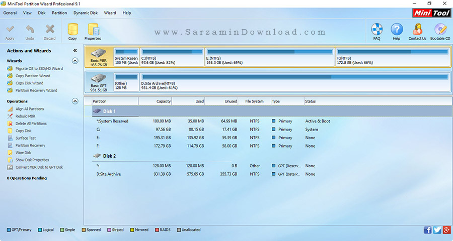 mini tools partition wizard 9.1 serial