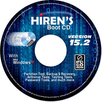 نرم افزار دیسک نجات هایرنز (برای ویندوز) - Hirens Boot CD-DVD 15.2 Windows