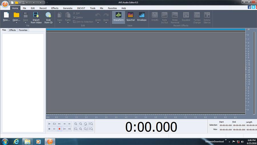 نرم افزار ویرایش فایل های صوتی (برای ویندوز) - AVS Audio Editor 8.5.1.524 Windows