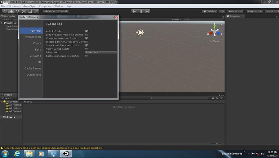 نرم افزار ساخت بازی های سه بعدی، یونیتی (برای ویندوز) - Unity Pro 2018.3.12f1 Windows
