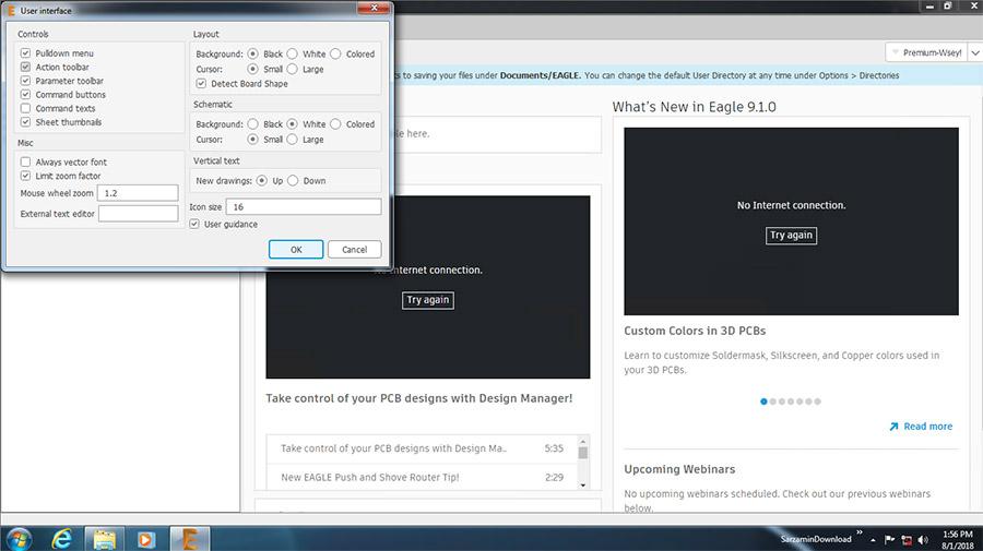 نرم افزار طراحی مدار الکترونیکی (برای ویندوز) - Autodesk EAGLE Premium 9.1.1 Windows