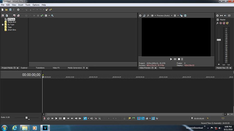 نرم افزار حرفه ای ویرایش فیلم (برای ویندوز) - MAGIX Vegas Pro 15.0.0 Build 387 Windows