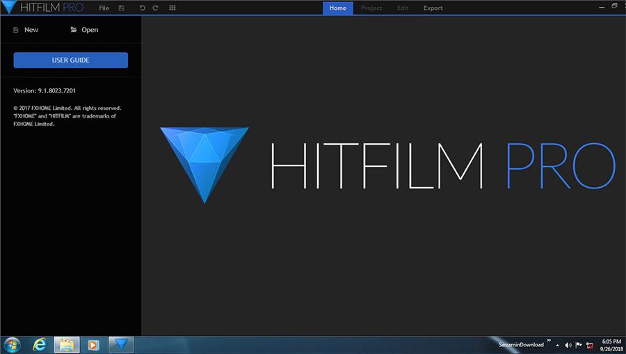 نرم افزار افکت گذاری روی فیلم (برای ویندوز) - HitFilm Pro 9.1.8023.07201 Windows