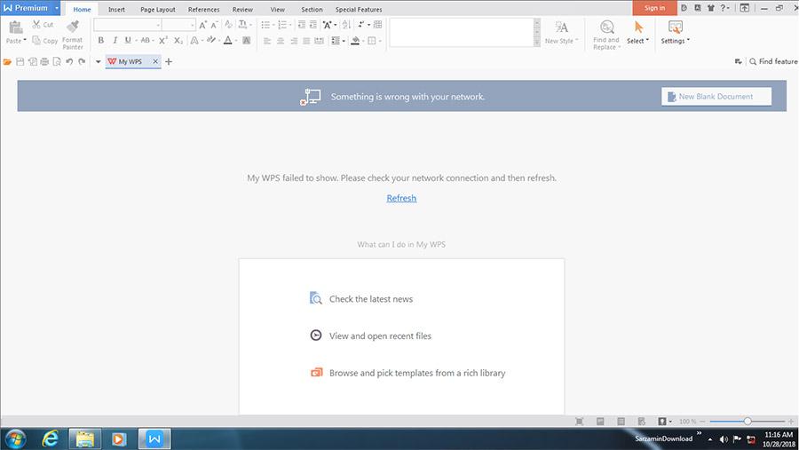نرم افزار آفیس کم حجم (برای ویندوز) - WPS Office 2016 Premium 10.2.0.7516 Windows