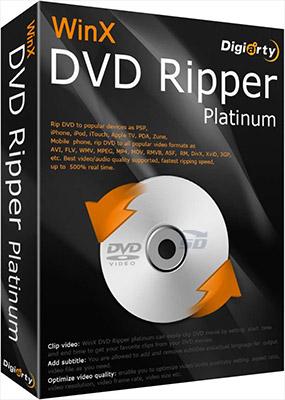 نرم افزار استخراج فیلم از دی وی دی (برای ویندوز) - WinX DVD Ripper Platinum 8.8.1.208 Windows