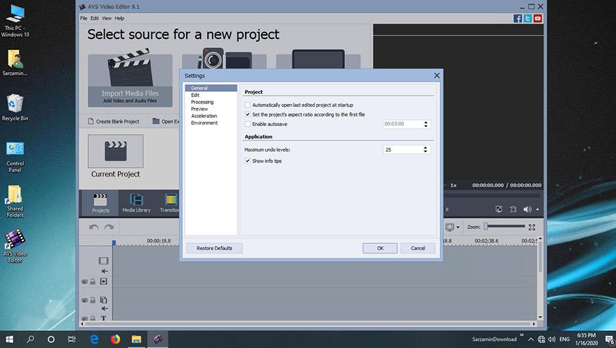 نرم افزار ویرایش فیلم (برای ویندوز) - AVS Video Editor 9.4 ...