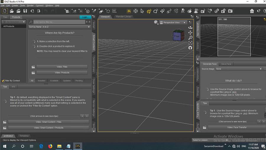 نرم افزار ساخت انیمیشن های 3 بعدی (برای ویندوز) - DAZ Studio Pro 4.15.0.2 Windows