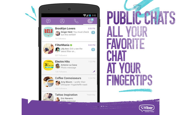 آموزش ساخت چت عمومی وایبر (Public Chat)