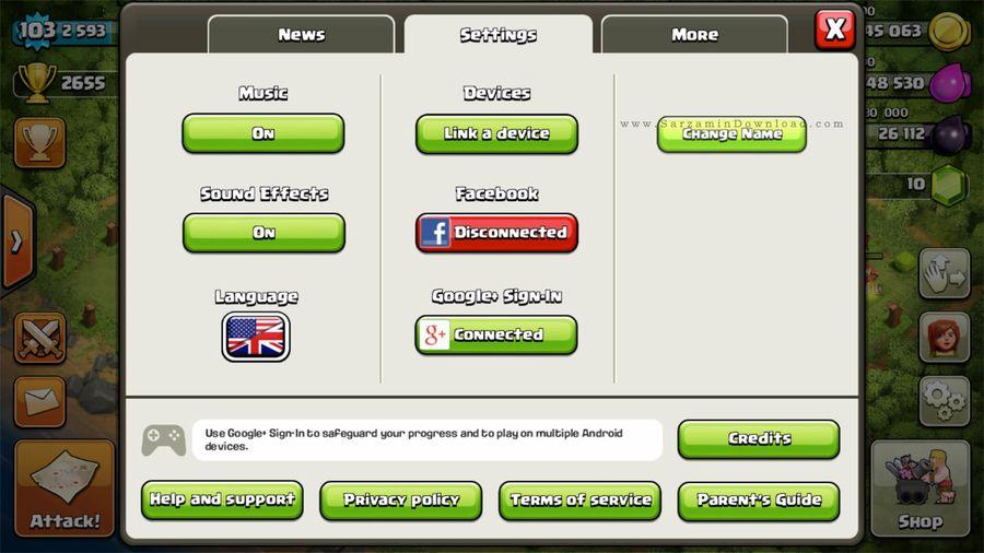آموزش تغییرنام بازی Clash of Clans